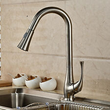 Stainless Steel Swivel Spout Kitchen Sink Faucet Pull Out Spryer Mixer Tap