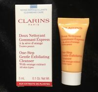 NEW CLARINS One-Step Gentle Exfoliating Cleanser w/Orange .1oz/5mL Travel Size