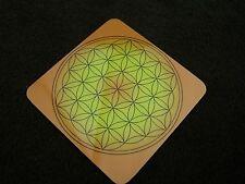 Untersetzer Blume des Lebens 8 cm Energiekarte Lebensblume orange