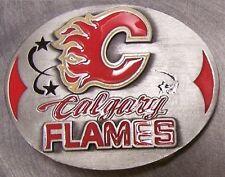 NHL Pewter Belt Buckle Calgary Flames NEW Siskiyou National Hockey League