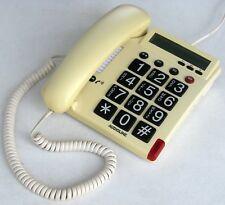 Audioline TEL 48G  beige ▪ Großtasten-Telefon, Display, weiß