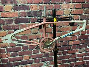 """OLD SCHOOL BMX MX DOUBLE TOP TUBE FRAME FRAMESET TOUTOU 20"""" WHEELS FREESTYLE"""