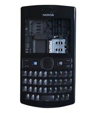 for nokia asha 205 full body panel faceplate housing body with middle BLACK