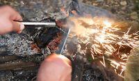 6''/15.3cm Fire Steel Firesteel Starter Flint Ferrocerium Ferro Rod 1/2''