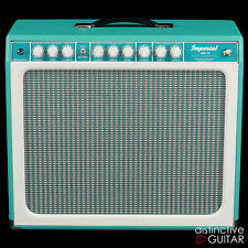 TONE KING IMPERIAL MKII W/ BUILT IN ATTENUATOR TUBE REVERB & TREMOLO TURQUOISE