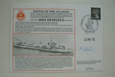 MARRIOTT FDC HMS HESPERUS SIGNED BY LORD MOTTISTONE , HESPERUS 1941-43