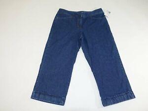 Liz Claiborne Women's Audra Cropped Jeans Size 12 NWT Blue 100% Cotton Capri