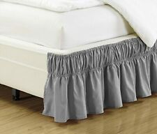 Mk Collection Wrap Around Style Easy Fit Elastic Bed Ruffles Bed-Skirt Twin-Full
