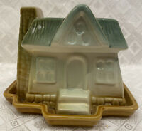 Vintage Cottage Planter w/ Underplate -Similar to Shawnee Hull or McCoy Pottery