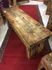 1 x TV unit table rustic wooden old vintage industrial display timber