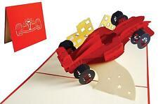 POP UP 3D Klappkarte *Formel 1* Rennwagen, Führerschein Auto, Fahrzeug Gutschein