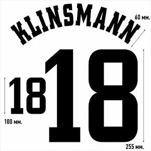Klinsmann 18. Germany Home football shirt 1998 - 2000 FLOCK NAMESET NAME SET