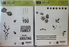 Stampin Up PAINTED PETALS Clear Mount stamps NEW Flower Silhouette watercolor