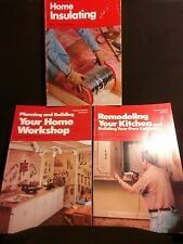 Popular Science Skill Book 3 book Lot Insulating, Kitchen remodel, Home workshop