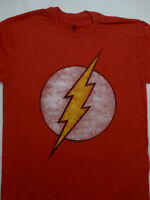 The Flash Distressed Logo Dc Comics Red T-Shirt