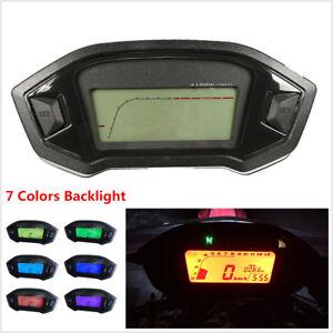 Motorcycle LCD Digital Speedometer Odometer LED Backlight Speed Sensor N-5 Gear