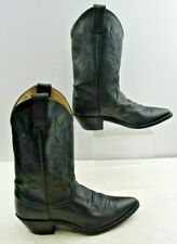 Ladies Justin Black Leather Pointed Toe Cowboy Western Boots Size: 7 B