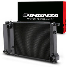 DIRENZA BLACK ALLOY 45mm SPORT RADIATOR RAD FOR BMW 3 SERIES E30 E36 E34 82-01