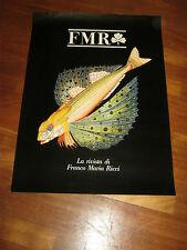 manifesto PUBBLICITARIO ,FMR FRANCO MARIA RICCI,LA RIVISTA ANNI 80/90