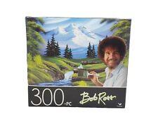 "300 piece Jigsaw puzzle Bob Ross ""MOUNTAIN HIDE-AWAY"" size 14""x 11"" Cardinal New"