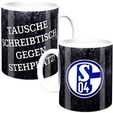 FC Schalke 04 Fanartikel Tasse Kaffeebecher Tausche Schreibtisch gegen Stehplatz