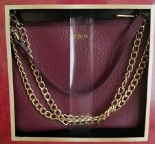 Lodis Emily 5 in 1 Convertible Crossbody Wine Color HandBag  Italian Leather