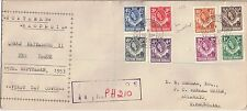 N Rhodesia 1953 FDC 1/2d - 1s 10] Definitives Livingstone Sep 15.