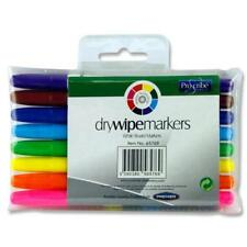 White Board Markers Dry Wipe Write Erase Pens Office School Home 8 Colour Pack