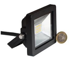 LED SMD Fluter 10W 700lm IP65 schwarz warmweiß 3000K 120° direkt an 230V