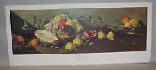 1959 Armando Miravalls Bove NY Graphic Society 18x42 Print Bountiful Harvest