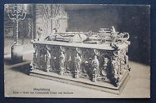 AK Postkarte ca 1925: Magdeburg Dom Grab des Erzbischof Ernst von Sachsen