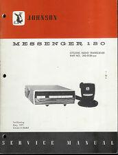 Original Factory EF Johnson Messenger 120 CB Radio Service Manual