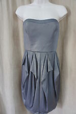 Jessica Simpson Dress Sz 10 Charcoal Gold Strapless Cocktail Party Dinner Dress