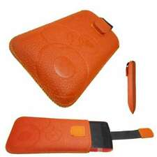 caseroxx Etui für Alcatel One Touch 992 in orange aus Kunstleder