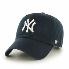 YOUTH New York Yankees '47 Brand Navy Blue Clean Up Adjustable Dad Hat