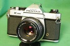 Pentax K1000 35mm SLR Film Camera with Pentax M 50 mm f/2 prime lens
