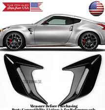 """2PC 5"""" x 5"""" ABS Black Side Fender Intake Air Vent w/ Mesh Insert Trim For Ford"""