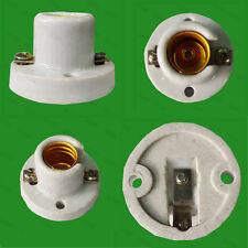 Small Edison Screw E14 SES Glazed Ceramic Socket Light Bulb Fixing Bracket