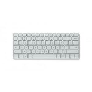 Microsoft Designer Compact Keyboard Glacier - Bluetooth 5.0 Connectivity
