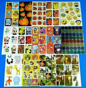 Eureka Sticker Sheet *You Choose* Halloween-Animals-Peanuts-Mickey Mouse Etc.