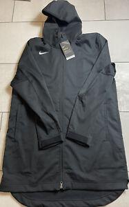 Nike Mens Large Protect Shield Repel Black Basketball Parka Jacket AJ6719-010