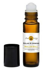 RELAX & UNWIND Essential Oil Blend Roller Ball Pulse Point Roll On 10ml