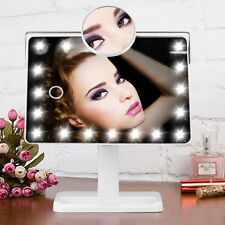 Tabletop Touch Screen Lighted Vanity Makeup Mirror Cosmetic Mirror w/20 LED