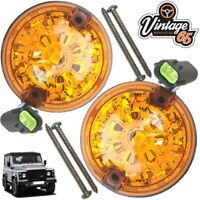 Land Rover Defender Genuine Wipac LED Front Rear Indicators Pair 73mm S6061LED