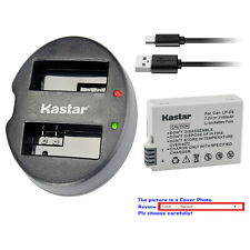 Kastar Battery Dual USB Charger for Canon LP-E8 LC-E8 & Canon EOS 600D Camera