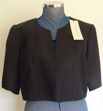 Womens Jane Lamerton Jacket Size 14 Black Short Suit Coat Bolero Ladies
