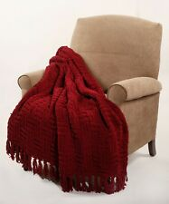 HST Cable Throw Blanket Nap Cover Sofa Coverlet Home Decor