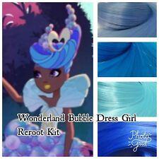 Ever After High Wonderland Bubble Dress Girl Reroot Nylon Hair Kit for OOAK Doll