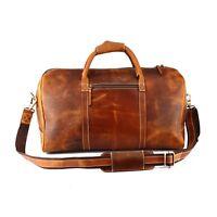 Büffel Leder Reisetasche Duffle Bag Sporttasche Weekender Gepäck Handgepäck
