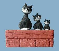 More details for dubout cats threesome cat figurine collectables gift boxed ornament sculpture